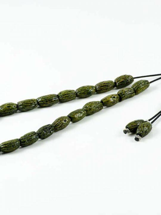 Green Natural Olive Kernel Greek Komboloi Prayer Worry Beads
