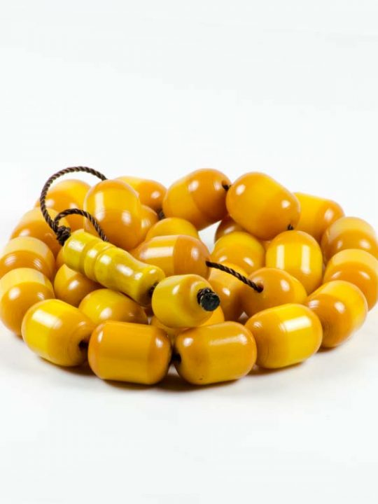 Vintage Tesbih Prayer Worry Beads Vintage Yellow Sudurus Mastic 33