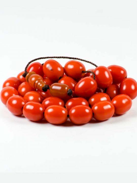 Vintage Tesbih Prayer Worry Beads Vintage Red Sudurus Mastic 33