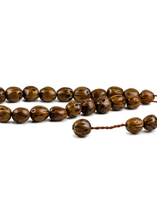 Hazel Brown Nutmeg Seeds Greek Worry Beads Komboloi