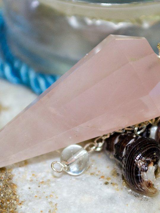 Rose Quartz Gemtone Pendulum
