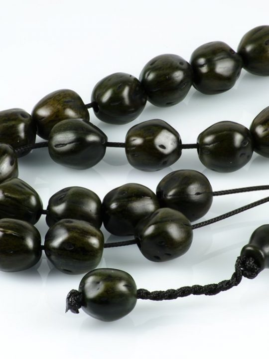 Dark Green Nutmeg Seeds Greek Worry Beads Komboloi