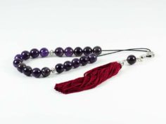 Amethyst Gemstone Greek Kombloi Worry Beads Tassel
