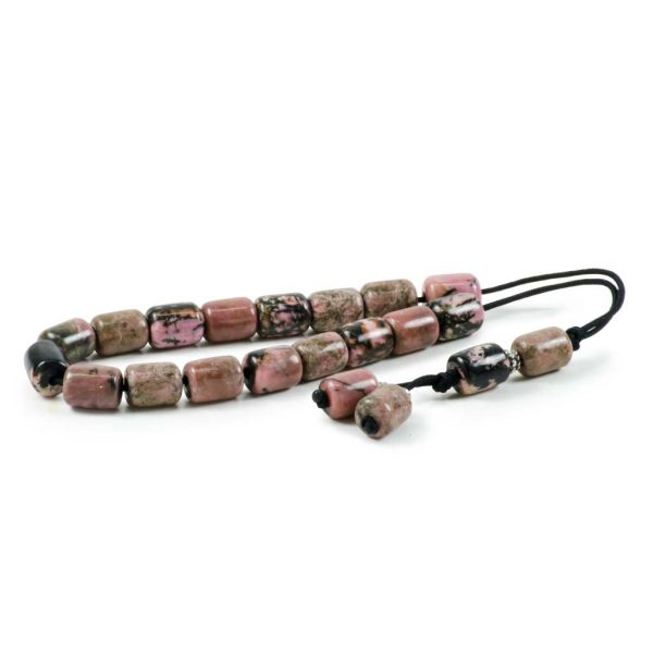Rhodonite Gemstone Greek Worry Beads Komboloi