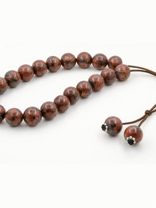 Red Jasper Gemstone Greek Worry Beads Komboloi