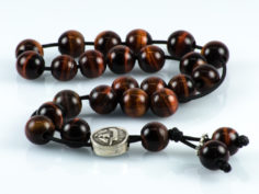 Red Tiger's Eye Cat's Eye Gemstone Greek Worry Beads Komboloi
