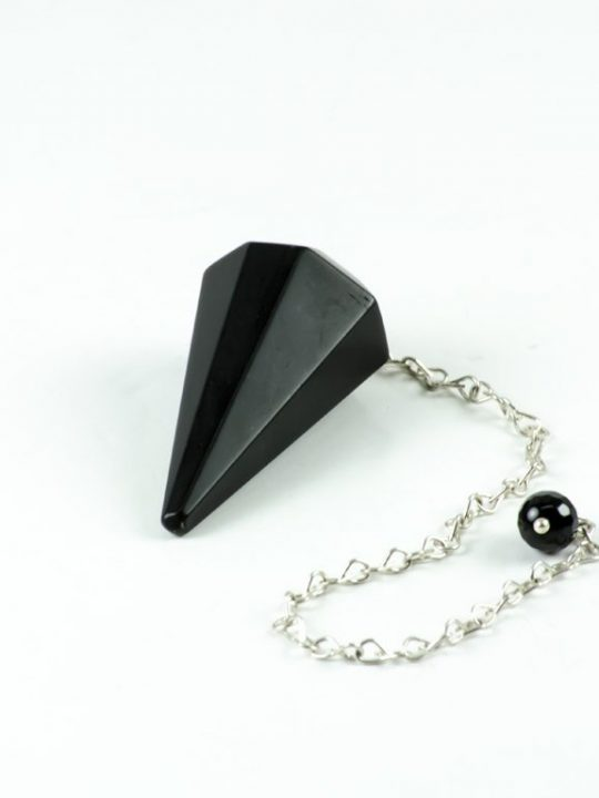 Black Onyx Gemstone Pendulum