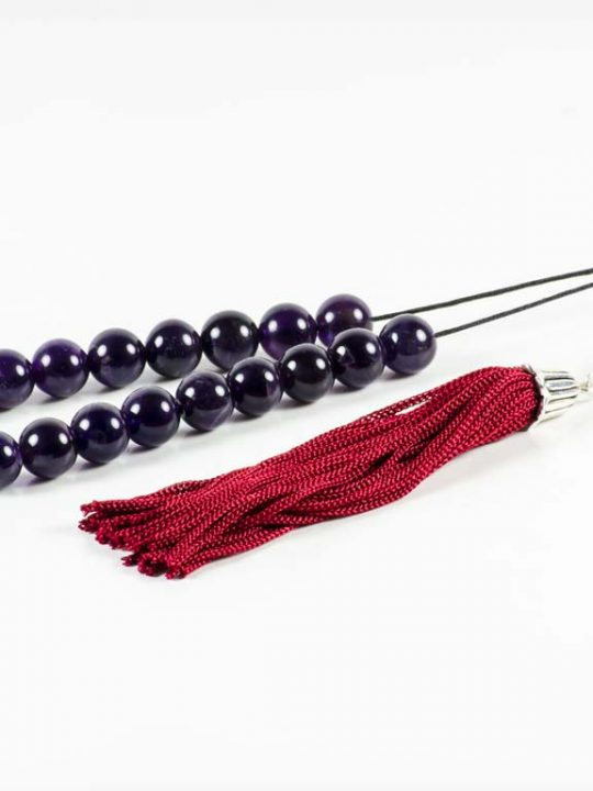 Amethyst Gemstone Greek Worry Beads Komboloi Tassel Imam
