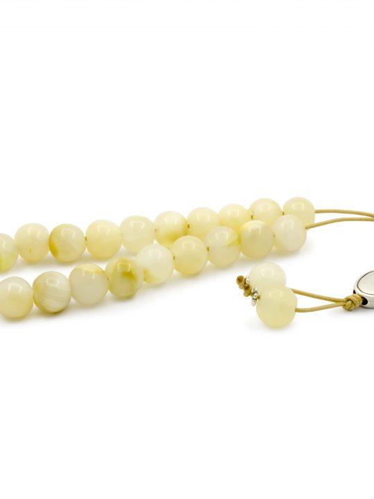 White Onyx Gemstone Greek Worry Beads