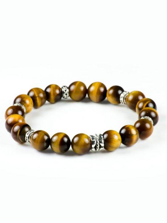 Tiger's Eye Gemstone Unisex Handmade Stretch Bracelet