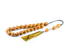 Yellow Nutmeg Seeds Greek Komboloi Worry Beads Tassel