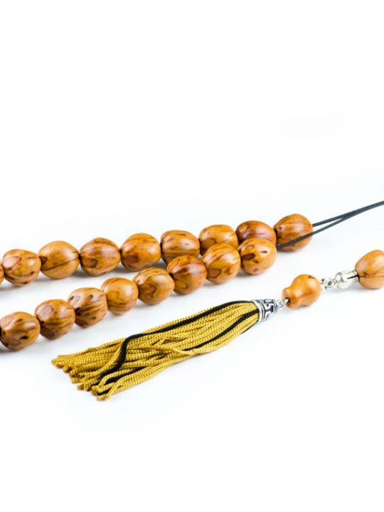 Yellow Nutmeg Seeds Greek Komboloi Worry Beads Tassel