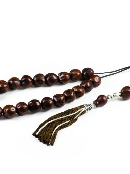 Hazel Brown Nutmeg Seeds Greek Komboloi Worry Beads Tassel