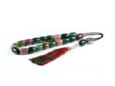 Indian Agate Gemstone Worry Beads Greek Komboloi