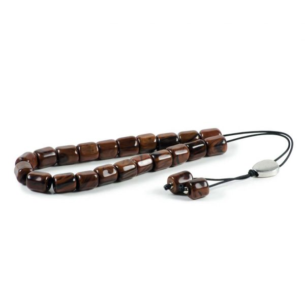 Brown Obsidian Greek Komboloi Worry Beads