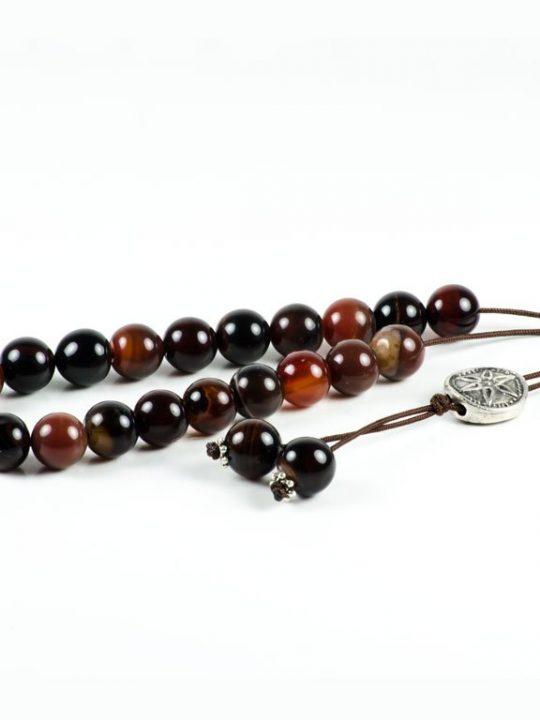 Carnelian Agate Gemstone Worry Beads Greek Komboloi