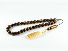 Natural Gold Brown Coral Yusr Tasbih Prayer Worry Beads