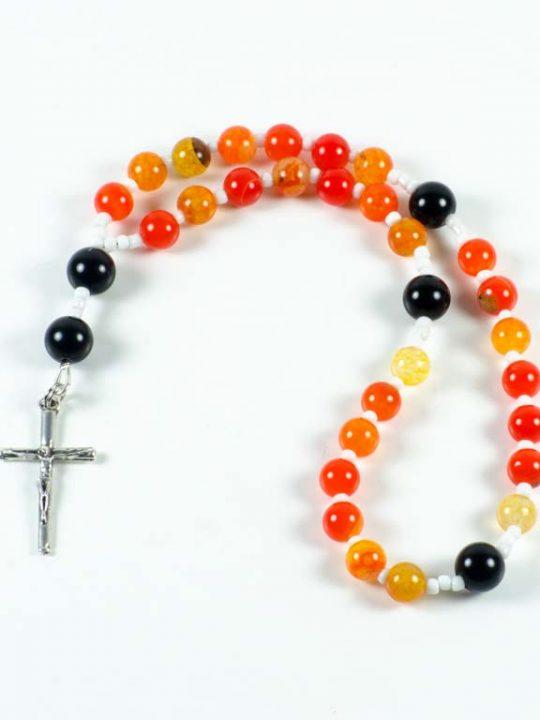 Cornelian Black Onyx Gemstone Christian Prayer Beads