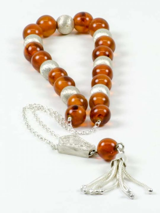 High Quality Authentic Amber Stone 17+7 Silver Beads