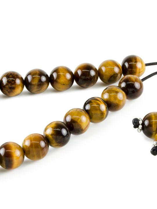 Tiger's Eye Gemstone Greek Worry Beads Komboloi
