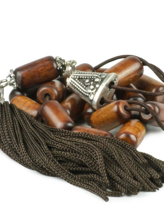 High Quality Hand Carved Camel Bone Greek Komboloi Worry Beads Brown