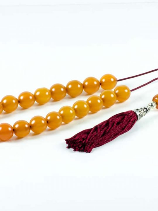 Vintage Orange Mastic Worry Beads Greek Sudurus Komboloi