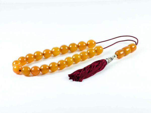 Vintage Orange Mastic Worry Beads Greek Sudurus Komboloi