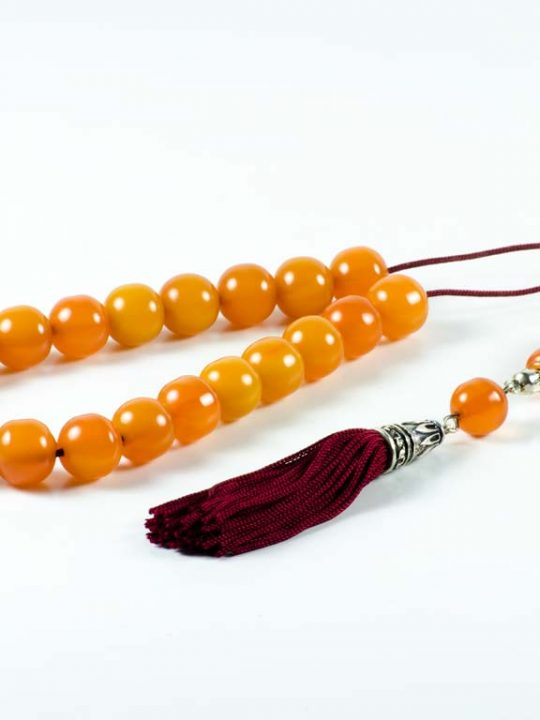 Old Vintage Orange Mastic Worry Beads Greek Komboloi Sudurus