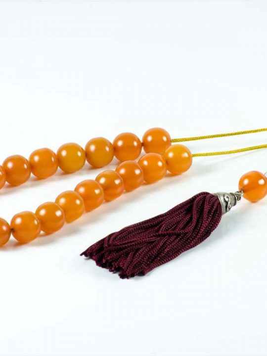 Vintage Orange Mastic Worry Beads Greek Komboloi Místek