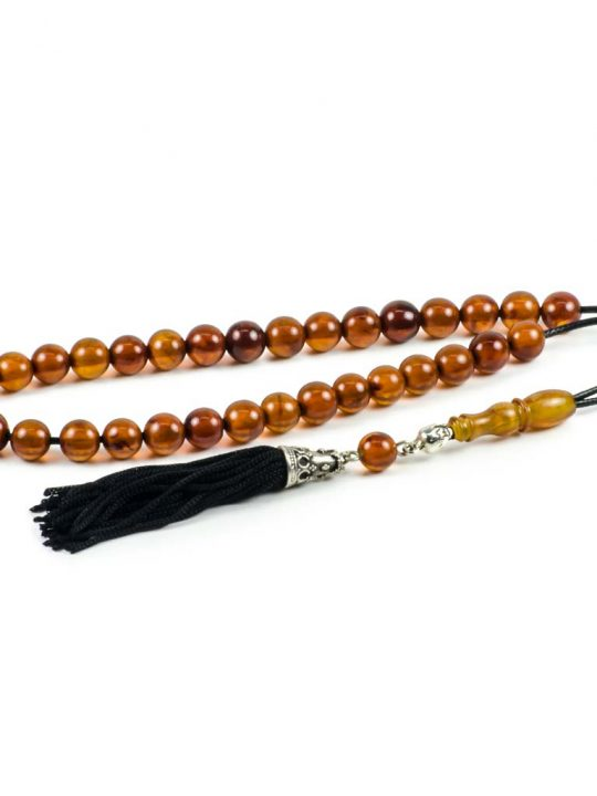 Natural Baltic Amber Stone Tesbih Worry Beads Succinite 33 Beads