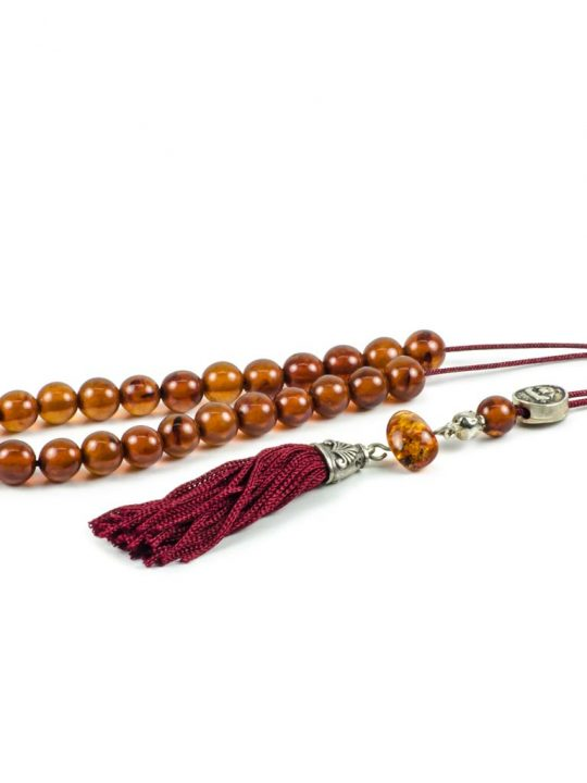 Natural Brown Amber Gemstone Greek Komboloi Worry Beads