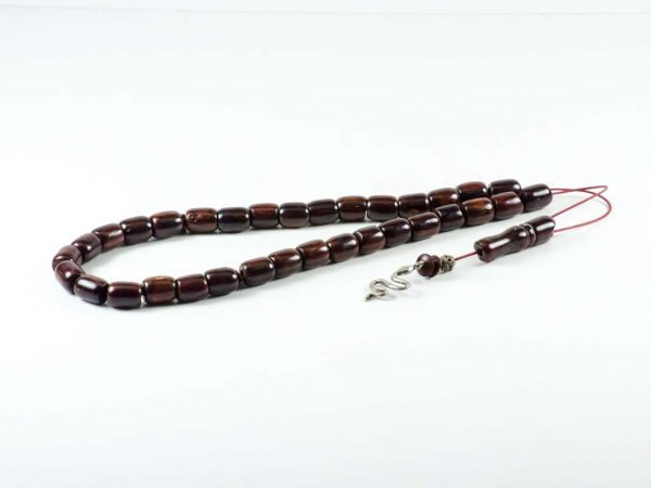 Vintage Brown Mastic Tesbih Worry Beads Sudurus