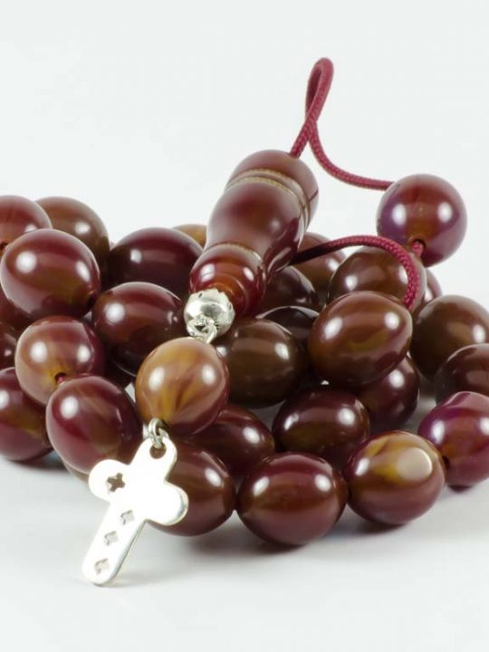 Vintage Brown Mastic Sudurus Tasbih Worry Beads
