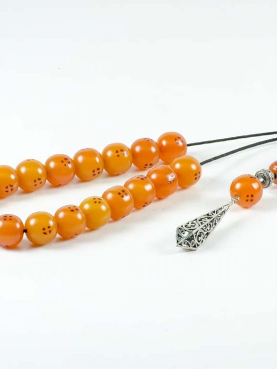 Vintage Sudurus Orange Mastic Greek Komboloi Worry Beads