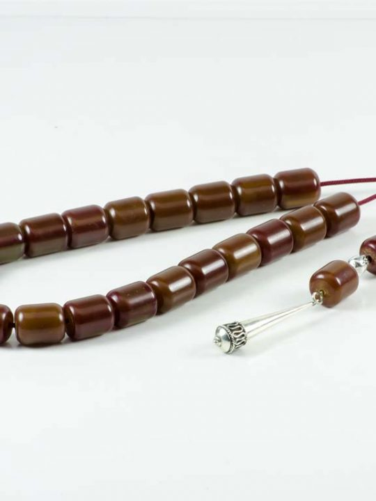 Vintage Brown Mastic Greek Komboloi Worry Beads