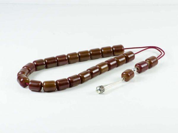 Vintage Brown Mastic Greek Komboloi Worry Beads