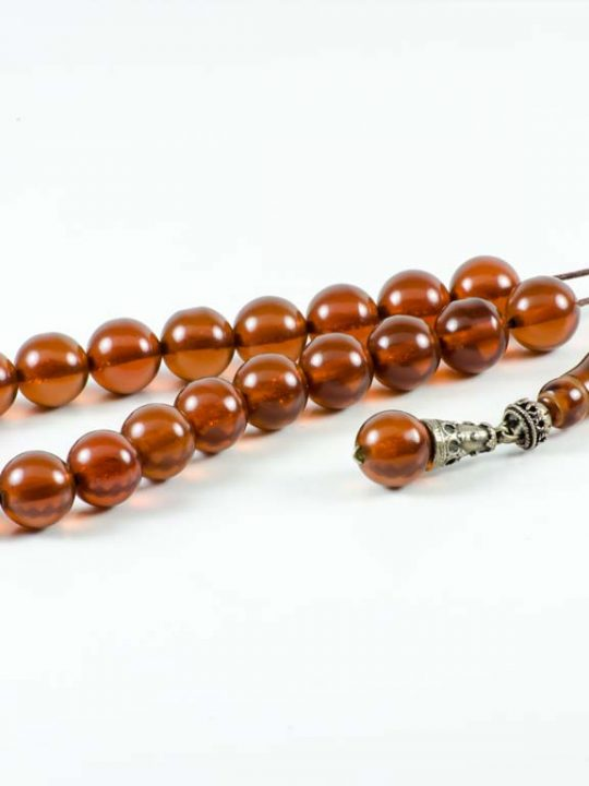 Vintage Brown Mastic Greek Worry Beads Komboloi
