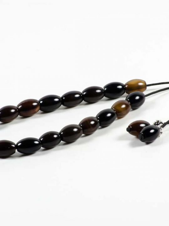 Agate Gemstone Worry Beads Greek Komboloi Oval Prayer Beads