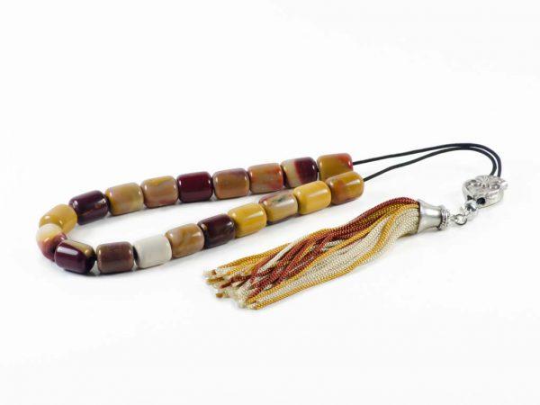 Mookaite Jasper Gemstone Greek Komboloi Prayer Worry Beads