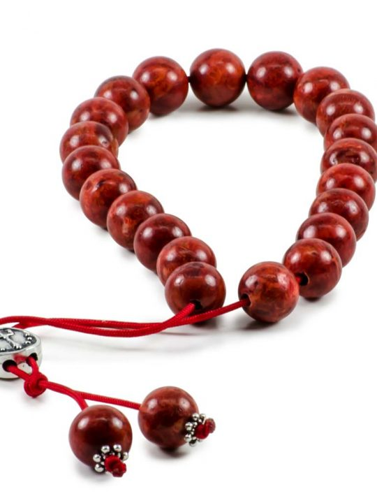 Natural Red Sponge Coral Gemstone Greek Komboloi Worry Beads