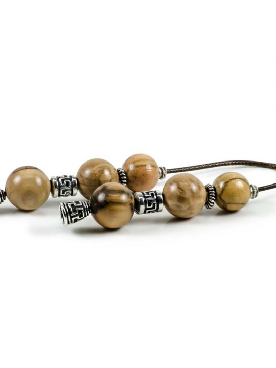 Olive Wood Greek Worry Beads Begleri Greek Meander
