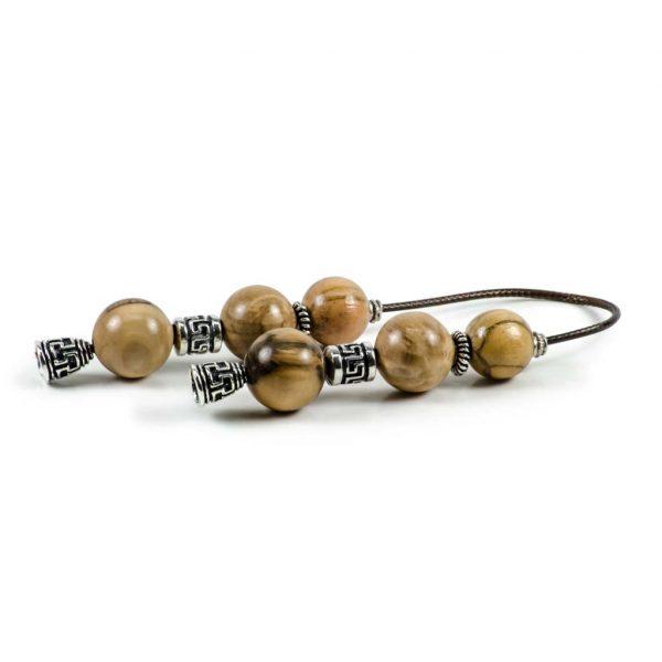Olive Wood Greek Worry Beads Begleri Greek Meander