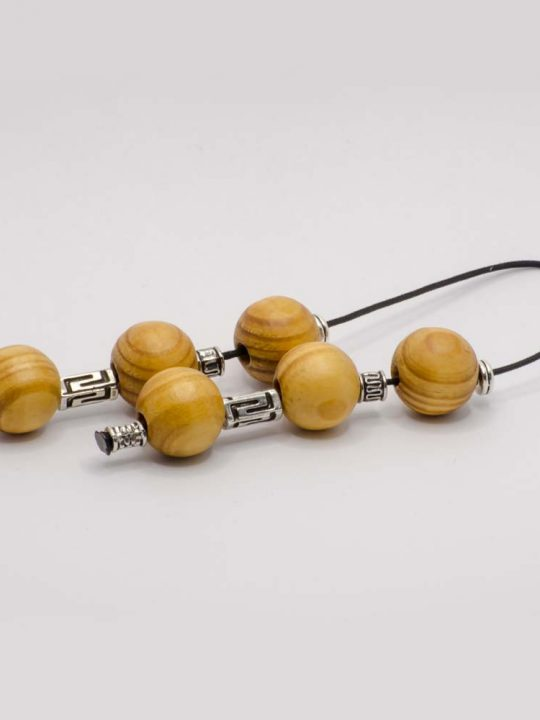 Olive Wood Greek Worry Beads Begleri 16x16mm Greek Meander