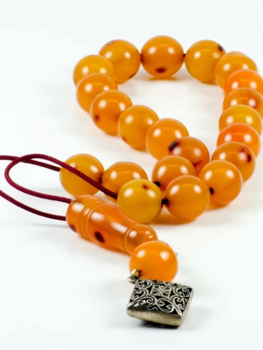 Vintage Orange Mastic Worry Beads Greek Komboloi Sudurus
