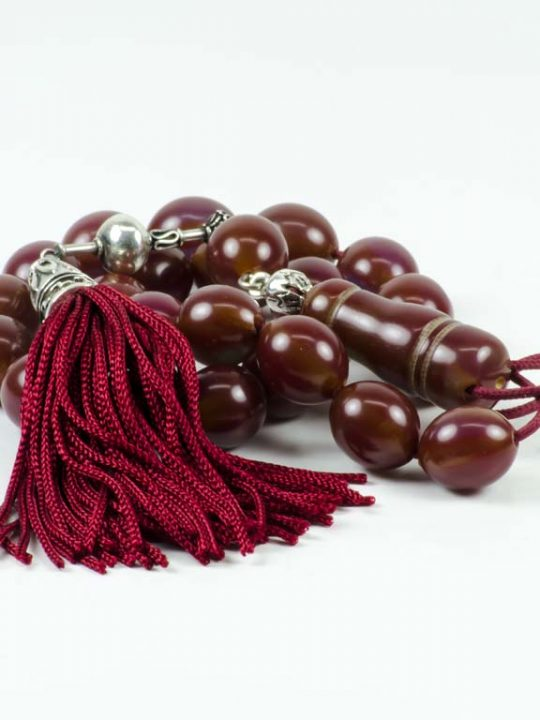 Vintage Brown Mastic Worry Beads Greek Komboloi Sudurus