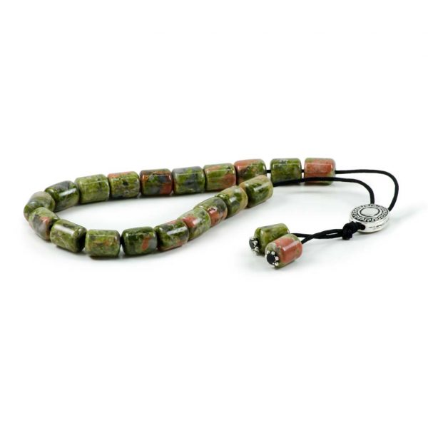 Unakite Gemstone Worry Beads Greek Komboloi
