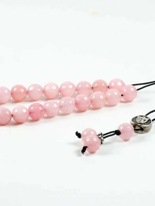 Rose Quartz Gemstone Greek Worry Beads Komboloi