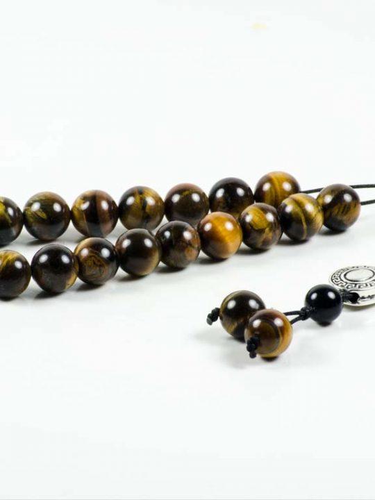 Tiger's Eye Gemstone Greek Komboloi Worry Beads