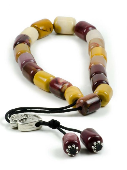 Australian Jasper Gemstone Greek Komboloi Prayer Worry Beads Mookaite Jasper