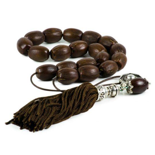 Coco Palm Seeds Greek Worry Beads Handmade Komboloi